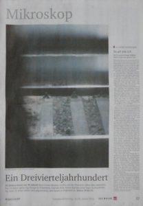 © Conny Höflich, Veröffentlichung So alt wie ich in der Zeitung Neues Deutschland